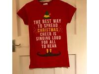 Buddy the Elf Christmas Cheer Red T Shirt