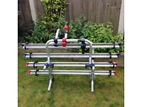 Fiamma motorhome bike rack for two bikes with extension for two extra bikes