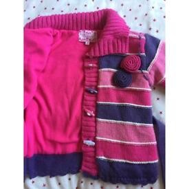 Girls pink jumper age 2