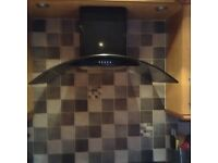 Black Electriq Cooker Hood For Sale *immaculate condition*