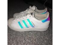 Holographic Adidas Superstars