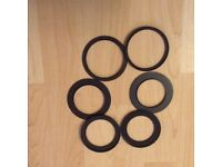 Camera lens stepping up rings and adapters to fit Cokin Filter system
