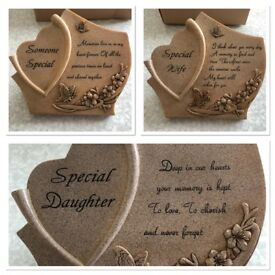 Memorial grave plaques mum daughter pet son brother