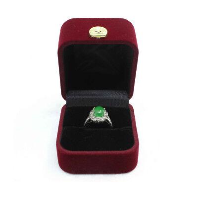 Velvet Engagement Wedding Ring Gift Box Jewelry Storage Case Organizer