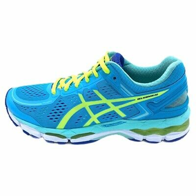 Asics Womens GEL-Kayano 22 Running Shoes Blue Low Top Lace Up Breathable T597N 8
