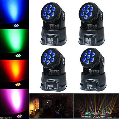 4PCS 140W RGBW LED Moving Head Stage Light DMX-512 DJ Club Disco Party Lighting