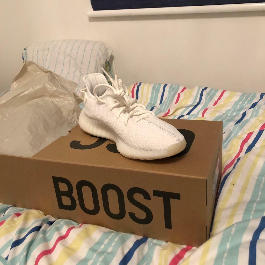 8eed1f9c6153 New Triple White Yeezys with Adidas receipt