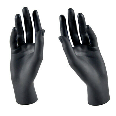 A Pair Of Mannequin Hands Model For Jewelry Bracelet Ring Display Black