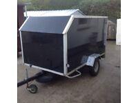 Box trailer 7 half feet by 4 half feet good trailer for market or camping