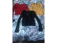 Size 12 tops and size 10 jeans
