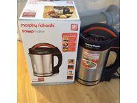 Morphy Richards Soup Maker - Brushed Stainless Steel & Black