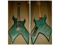 Bc rich warlock customised electric guitar