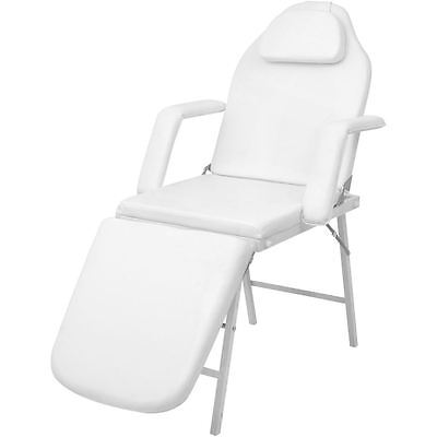 """73"""" Portable Tattoo Facial Bed Parlor Spa Salon Beauty Massage Table Chair White"""