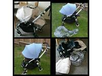 Bugaboo bee 3 with choice of hood blue or white