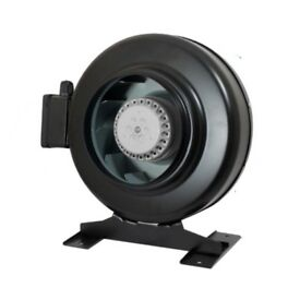 """Hydroponics Metal Circular Inline Duct Extractor Fan Air Control 12"""" / 315mm"""