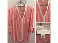 Pink and Cream Forever 21 Shirt