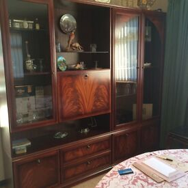 Large MEREDEW Display Cabinet in Walnut