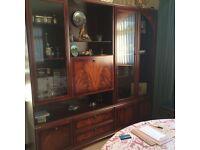 Large MEREDEW Display Cabinet in Walnut
