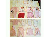 First size girls clothes/sleepsuit bundle