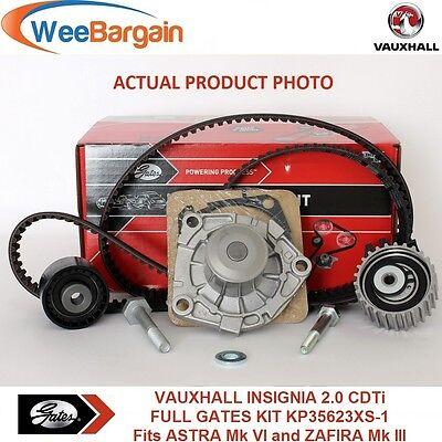 VAUXHALL INSIGNIA 20 CDTi FULL GATES KP35623XS 1 Timing Belt and Water Pump Kit