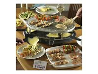 Come Dine with Me oval stone raclette. Grill fish, meat, vegetables. Still in original packaging