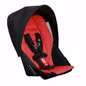 Phil & Teds Red Dot Double Kit / Second Seat Brand New Complete With Hood