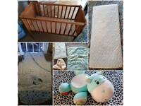 Crib mattress bedding hippo projector and sleeping bag