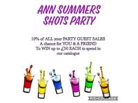 Ann Summers Shot Party July & August