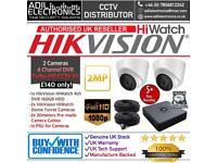 Hikvision 4 Cameras HiWatch Turbo-HD Full CCTV Kit: 4CH 160GB DVR & 2x Full HD 1080P 2MP Dome Camera