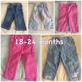 18-24 months GIRLS Trousers 👖 Next / M&S