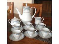 Genuine Noritake Avalon Fine China Coffee Service in excellent condition.