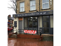 Newly created cafe in prominent position on Anlaby Road available for lease £750 PCM