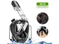 NEW Professional Snorkel Free Diving Mask Full Face 180 Degree Panoramic View