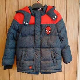 Boys Spiderman Winter Coat Age 6/7