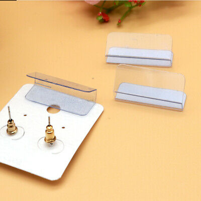 100pcs Adhesive Lip Adapter Hanger For Earring Studs Card Holder Jewelry Display