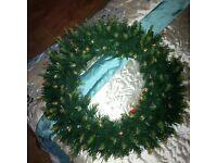 Christmas Fibre Optic 20inch Door Wreath