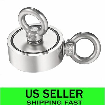 600bls Pulling Force Neodymium Magnet Double-sided Salvage Fishing Magnet Hook