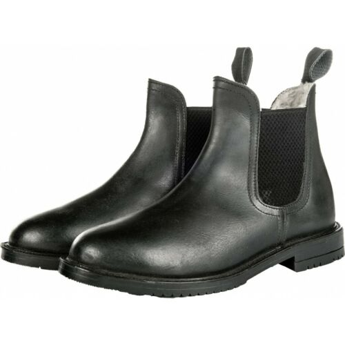 HKM Illinois Black Calf Leather Winter Paddock Boots - Lined with Fleece