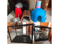 Hamster tank and accessories