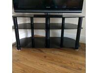 "40"" Black Glass TV Stand £25 ono"