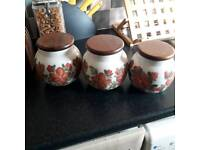 3 Rawson Ceramics storage jars from the 1980s