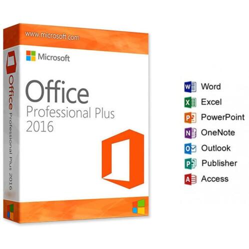 office word factuur ≥ Microsoft Office 2016 Professional incl.B.T.W Factuur
