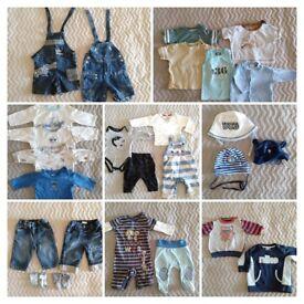 ⭐️Huge 40 plus pieces baby boy clothing bundle⭐️3-6 months⭐️