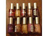 job lot 10X collection 2000 Maxiflex 5 Day & Lasting Cool Wear Durable & Flexible-nail polish