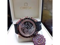New rubber bracelet Omega Speedmaster grandfather time last man on the moon limited edition with chr