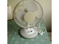 desk top 10'' oscillating fan in very good condition