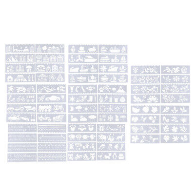 8 Style Journal Drawing Template Stencils Set Scrapbooking DIY Card Making Style Journal Set