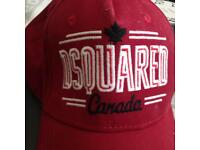 DSQUARED RED BASEBALL CAP (BNWT)