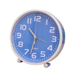 Portable Small Clock Non-ticking Table Desk Alarm Clock for Heavy Sleeper 03