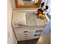 BABY Changing Unit with 4 wide DRAWERS and EXTRA SPACE for STORAGE